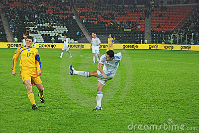 Georgios SAMARAS kicks the ball Editorial Photo