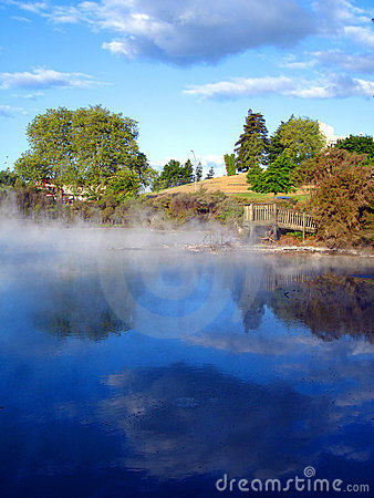 Geothermal Activity of Kuirau Park, New Zealand
