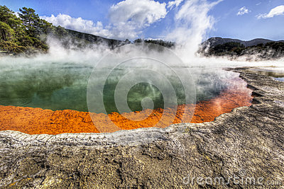Geothermal Champagne Pool in New Zealand