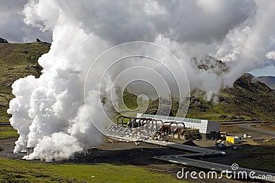 Geothermal heat plant