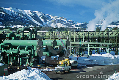 Geothermal power plant, CA Editorial Image