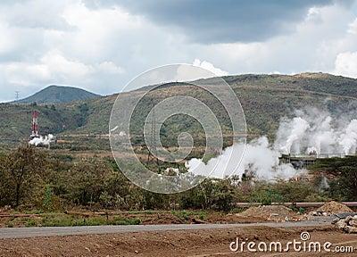 Geothermal power plant in Kenya