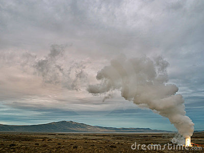 Geothermal well in Northern Nevada