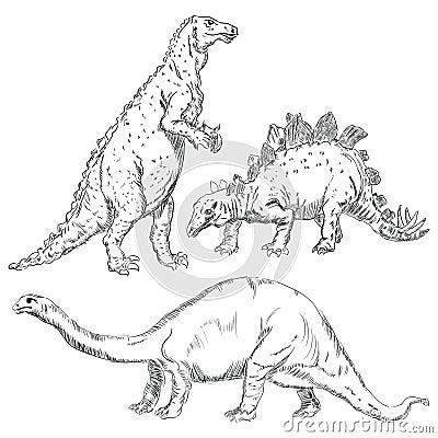 Geplaatste dinosaurussen