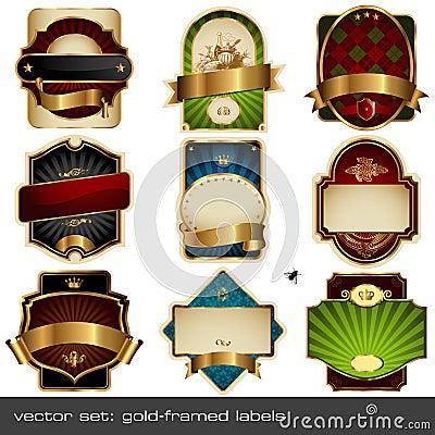 Geplaatste vector: luxueuze etiketten