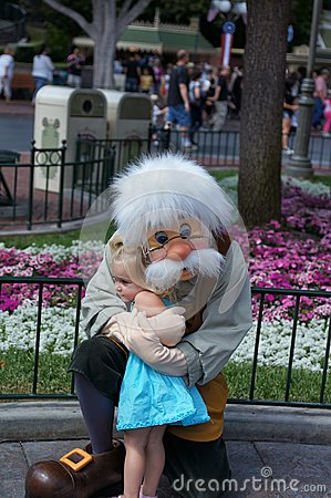 Geppetto at Disneyland Editorial Stock Image