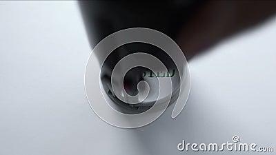 Geprüfte Dichtung gestempelt auf Hintergrund des leeren Papiers, anerkannte Ergebnisse, Prüfung stock video footage