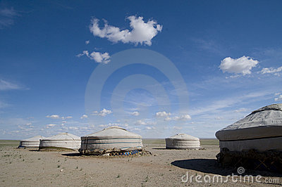 Ger Camp in Gobi Desert