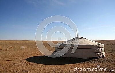 Ger in Gobi Desert Mongolia