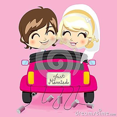 Gerade verheiratetes Paar
