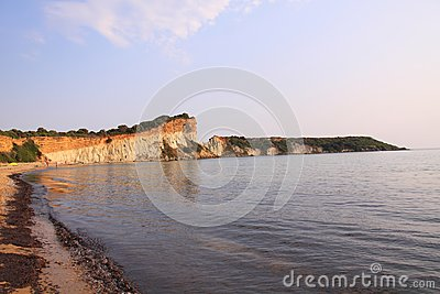 Gerakas beach and cliffs on the island of zakynthos