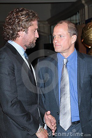 Gerard Butler, Woody Harrelson Editorial Stock Photo