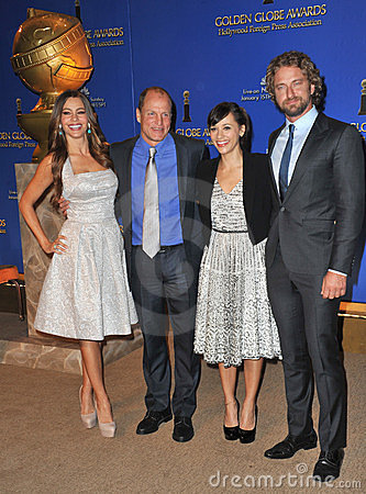 Gerard Butler, Woody Harrelson, Rashida Jones, Sofia Vergara Editorial Image