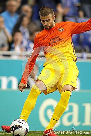 Gerard Pique of FC Barcelona Editorial Image