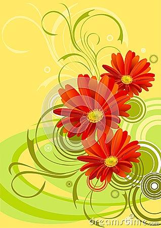 Gerbera flower background design
