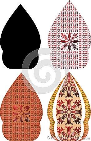 Gergunung is the javanese design for wayang kulit Stock Photo