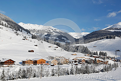 Gerlos austria in the winter