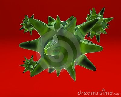 Green germ on red background mr no pr no 2 726 1