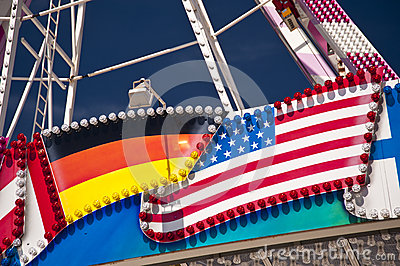 German an american Flag
