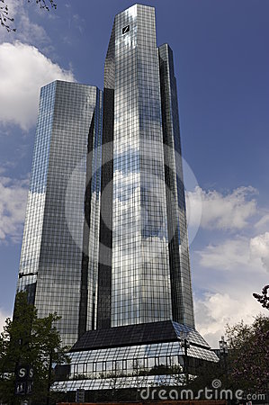 German Bank in Frankfurt on the Main, Germany Editorial Stock Photo