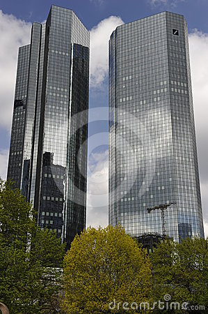 German Bank in Frankfurt on the Main, Germany Editorial Image