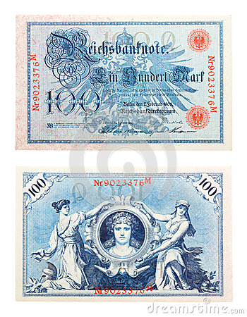 Free German Banknote From 1908 Royalty Free Stock Images - 24984979