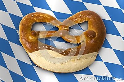 German Bavarian Oktoberfest pretzel