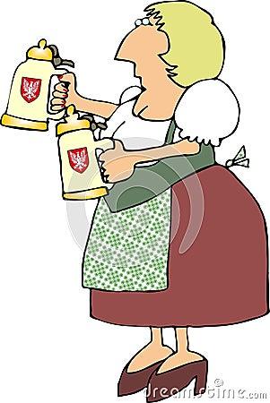 German Beer Maiden