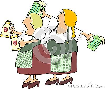 German Beer Maidens