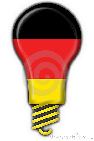 German button flag lamp shape