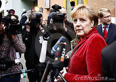 German Chancelor Angela Merkel Editorial Image
