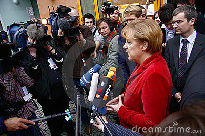 German Chancelor Angela Merkel Editorial Stock Image
