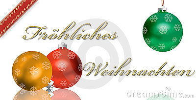 German Christmas greeting card