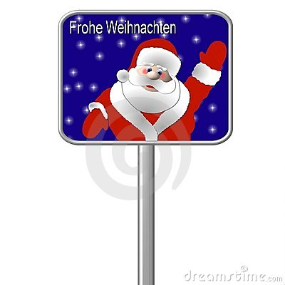 German Christmas Sign