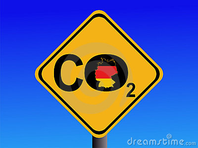 German CO2 emissions sign