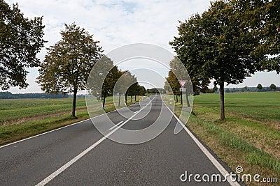 German country road near Leipzig Stock Photo