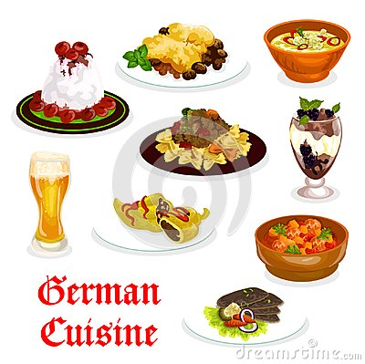 Free German Cuisine Traditional Food For Lunch Icon Royalty Free Stock Photo - 119196895