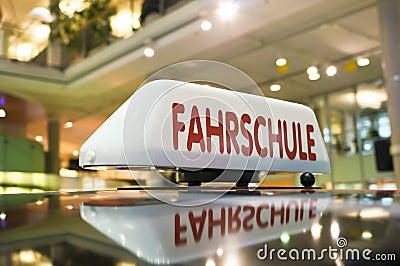 German driving school sign
