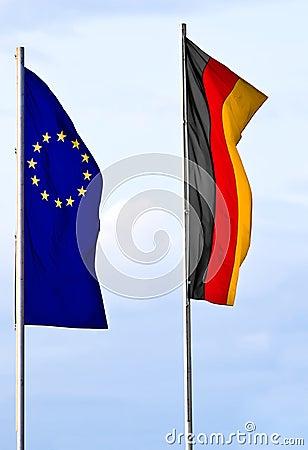 German and European flag