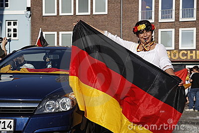 German fans at world cup 2010 Editorial Stock Image