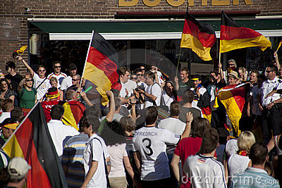 German fans at world cup 2010 Editorial Stock Photo