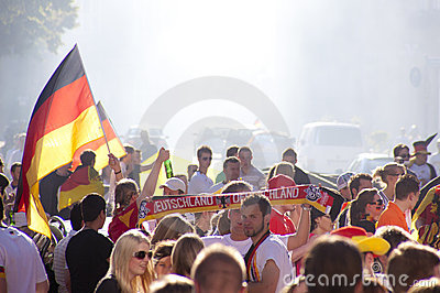 German fans at world cup 2010 Editorial Photography