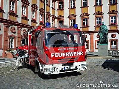 German fire brigade car - Iveco Magirus Deutz Editorial Stock Image