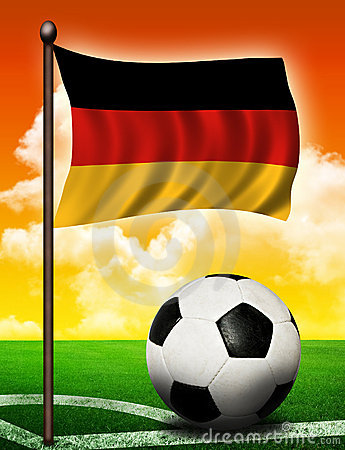 German flag and ball