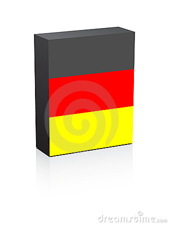 German flag on box