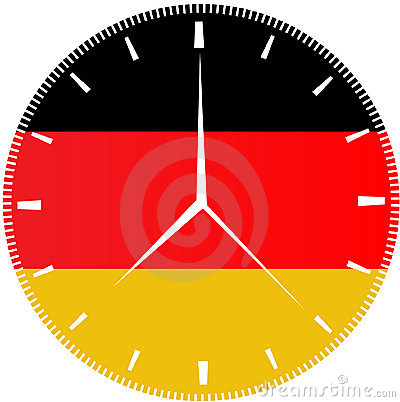 German Flag Clock