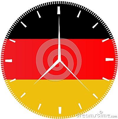 German Flag Clock