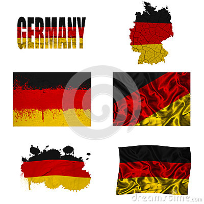 German flag collage