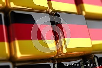 German flag-cube
