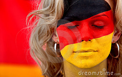 German flag - female face
